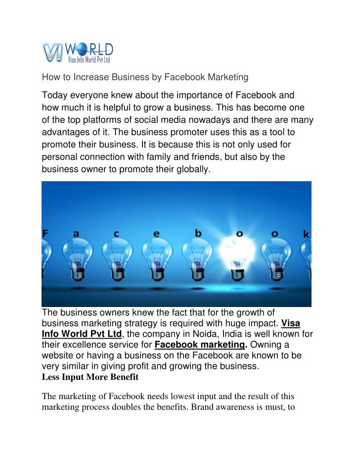 How to Increase Business by Facebook Marketing