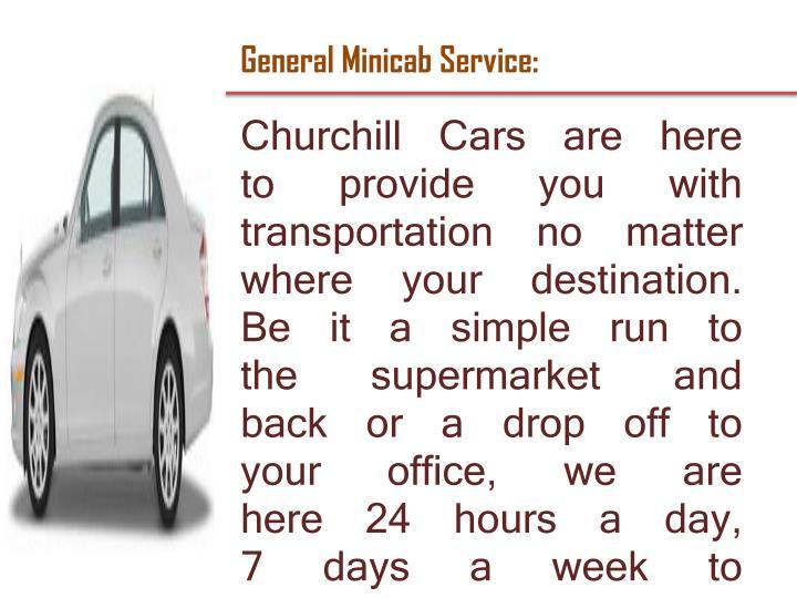 General Minicab Service: