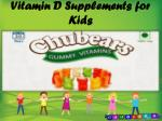 vitamin d supplements for kids