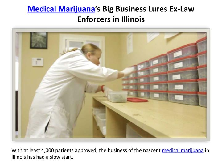 Medical marijuana s big business lures ex law enforcers in illinois