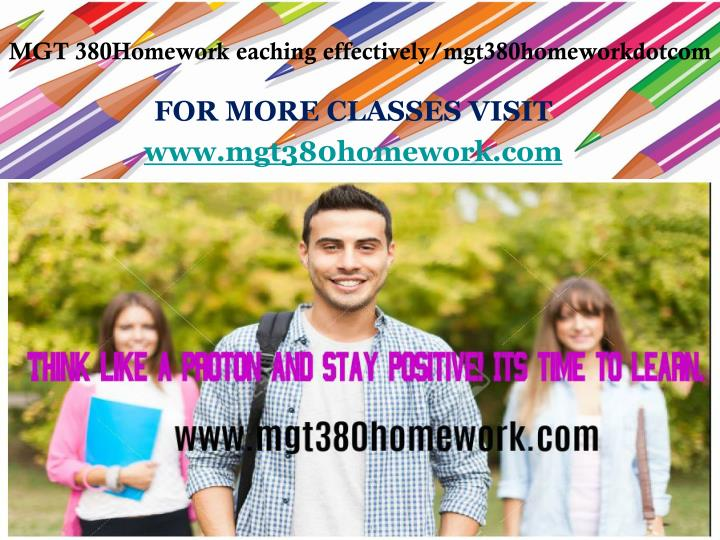 for more classes visit www mgt380homework com n.