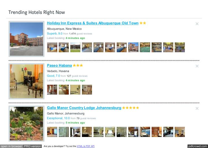 Trending Hotels Right Now