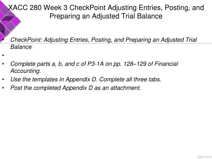 xacc280 week 9 financial analysis Xacc 280 week 9 final project financial analysis and constraints xacc 280 week 1 checkpoint the accounting equation xacc 280 week 1 discussion question.
