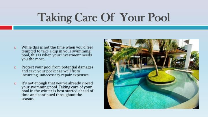 Taking Care Of Your Pool