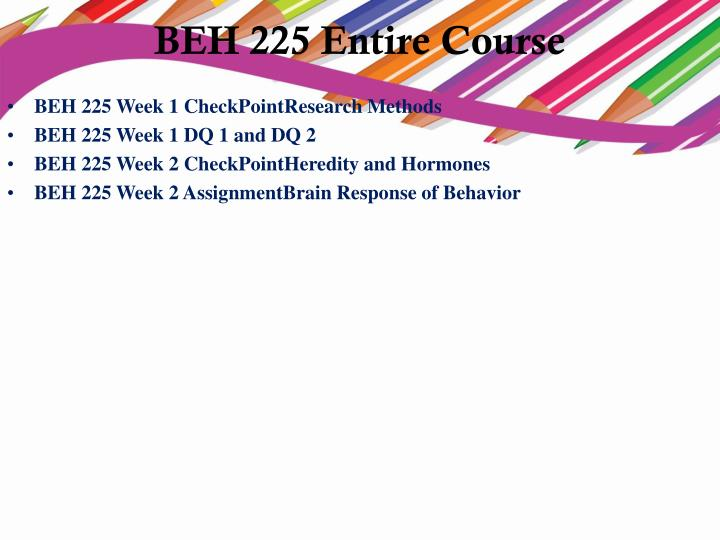 beh225 ch1 A+ grade solution pcn 501 week 1 comparison of theories paper topic: theories of addiction and prevention it is widely understood that there is a biopsychosocial model of addiction.