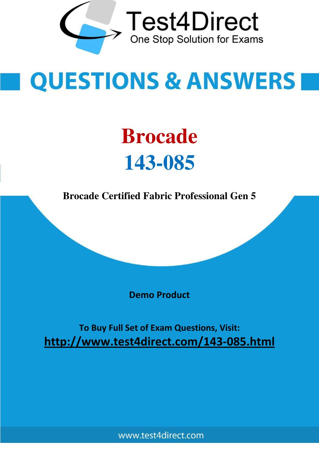 Ppt Brocade 143 085 Test Questions Powerpoint Presentation Id