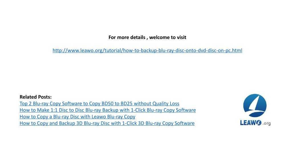PPT - How to copy and shrink dvd 9 disc to dvd-5 disc