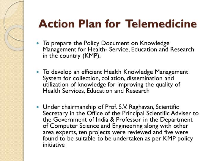 Action Plan for  Telemedicine
