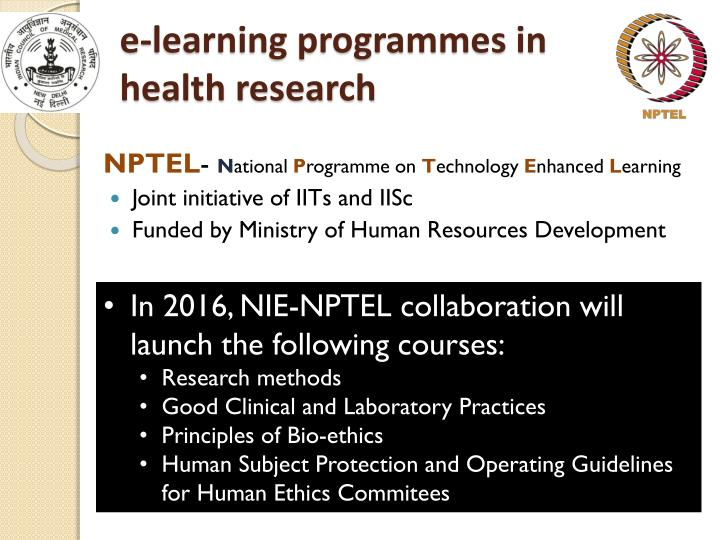 e-learning programmes in