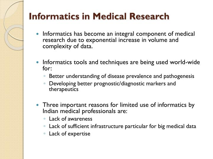 Informatics in Medical Research