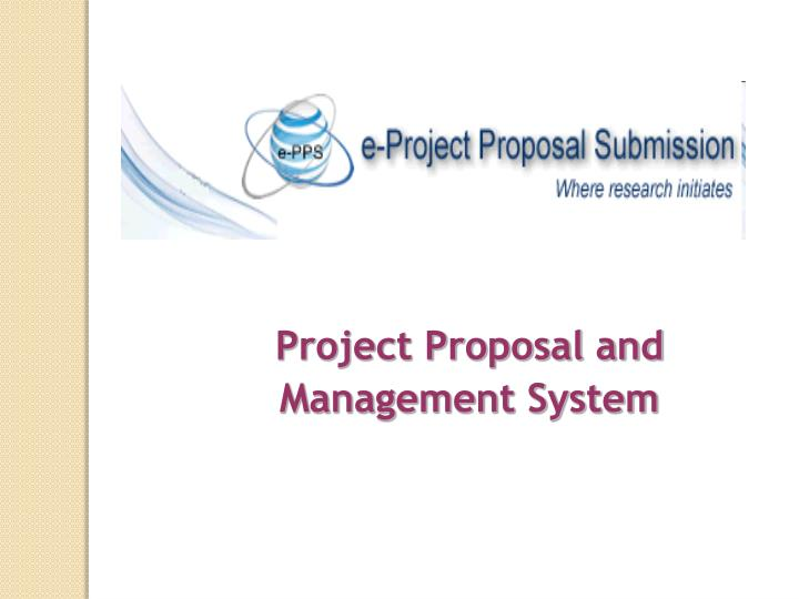 Project Proposal and Management System