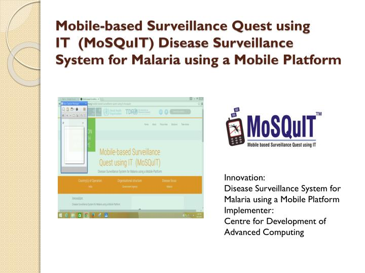 Mobile-based Surveillance Quest using IT  (
