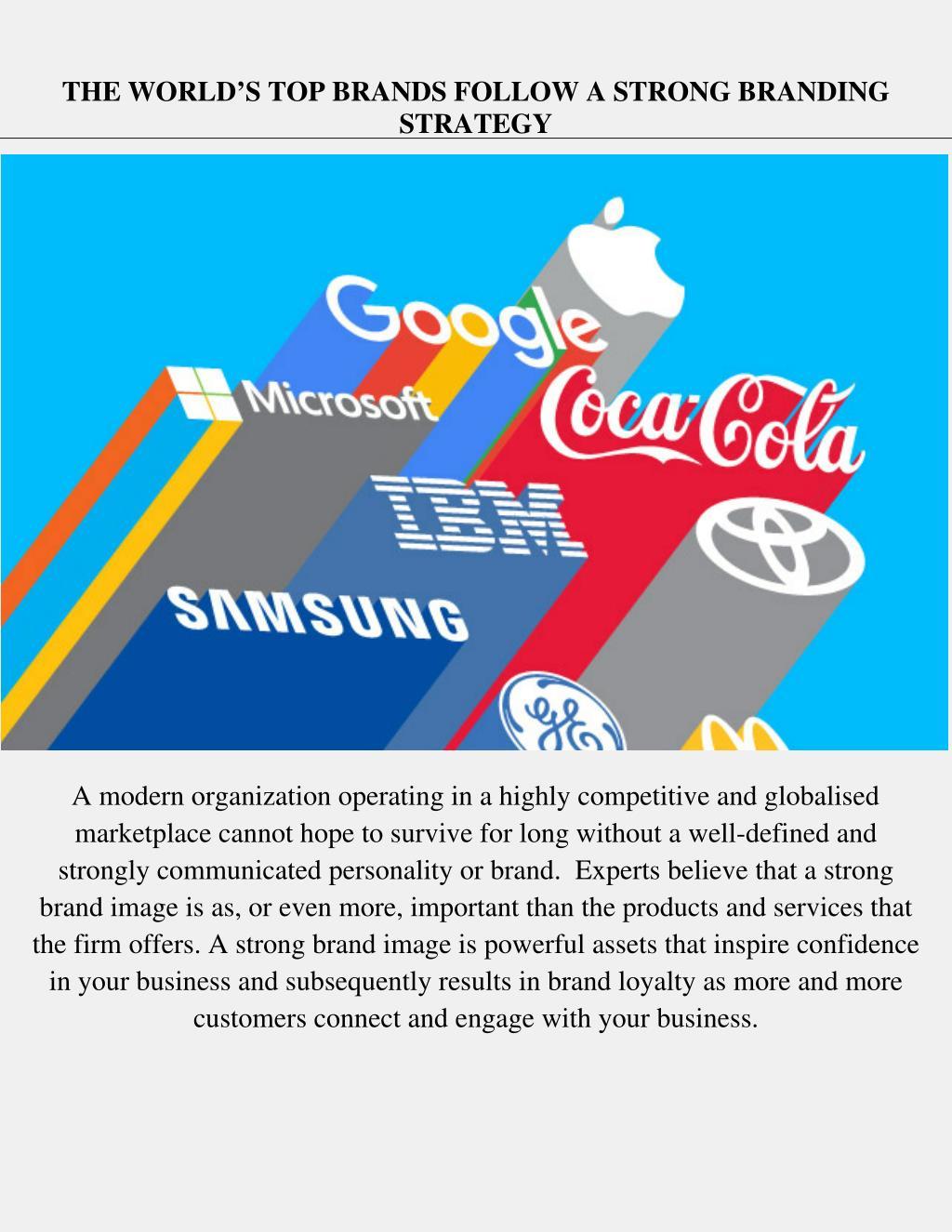 PPT - World's Top Brands Follow a Strong Branding Strategy