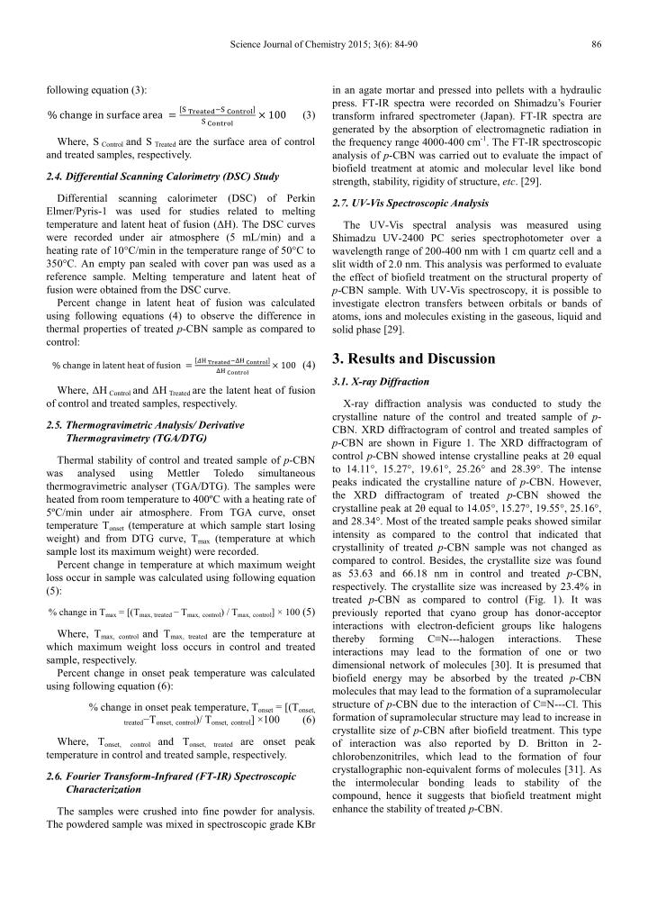 Science Journal of Chemistry 2015; 3(6): 84-90