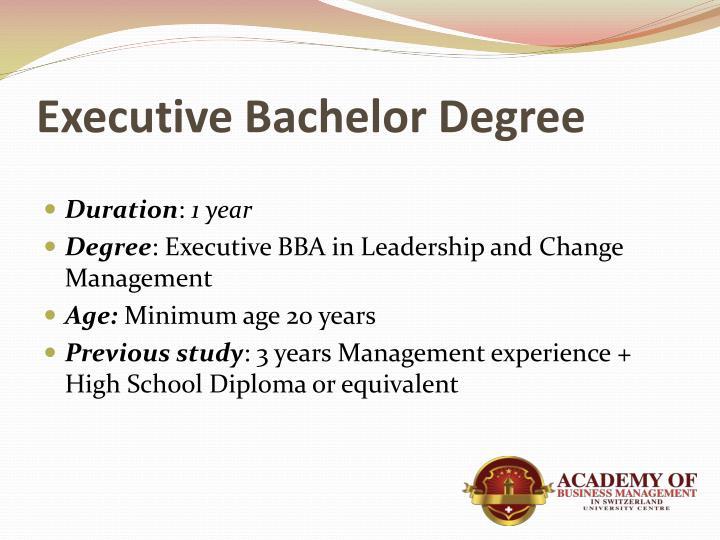 Executive Bachelor Degree