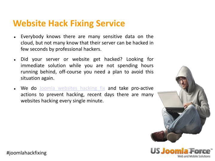 Website hack fixing service