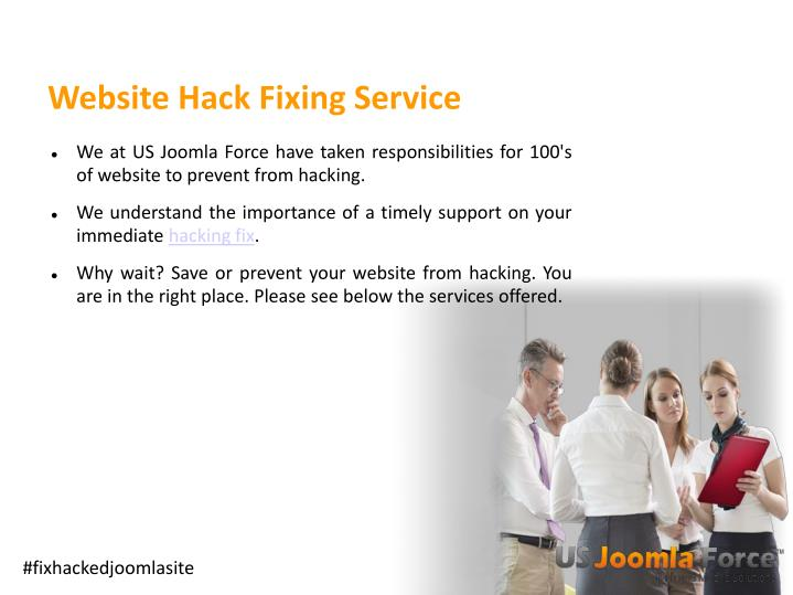 Website hack fixing service1