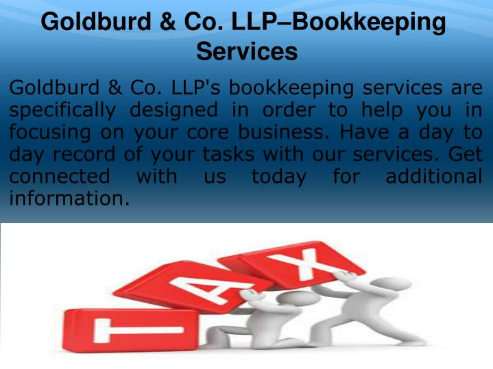Goldburd & Co. LLP–Bookkeeping