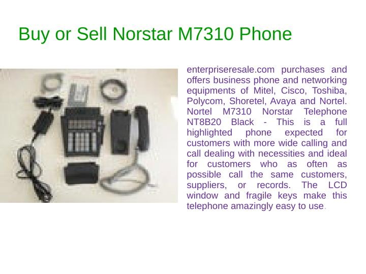 Buy or Sell Norstar M7310 Phone