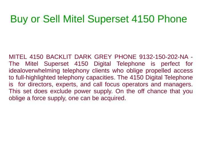 Buy or Sell Mitel Superset 4150 Phone
