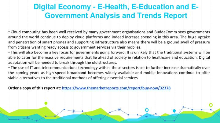 Digital economy e health e education and e government analysis and trends report2
