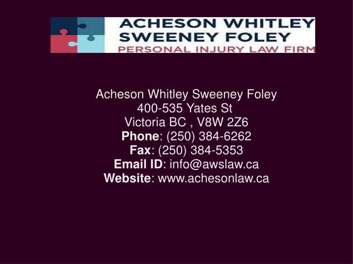 Acheson Whitley Sweeney Foley