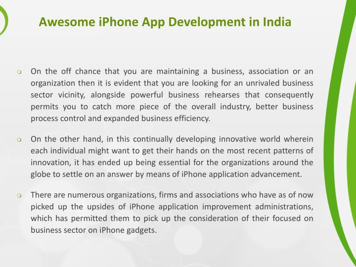 Awesome iphone app development in india1