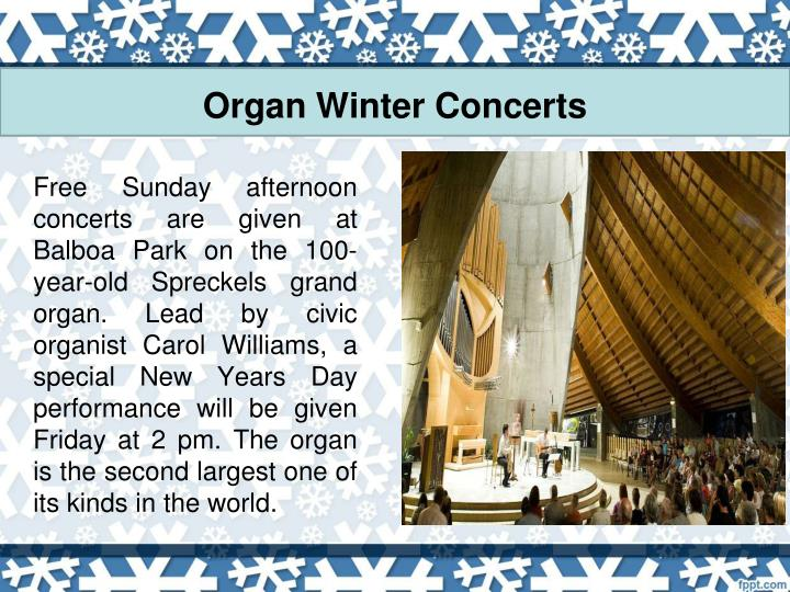 Organ Winter Concerts