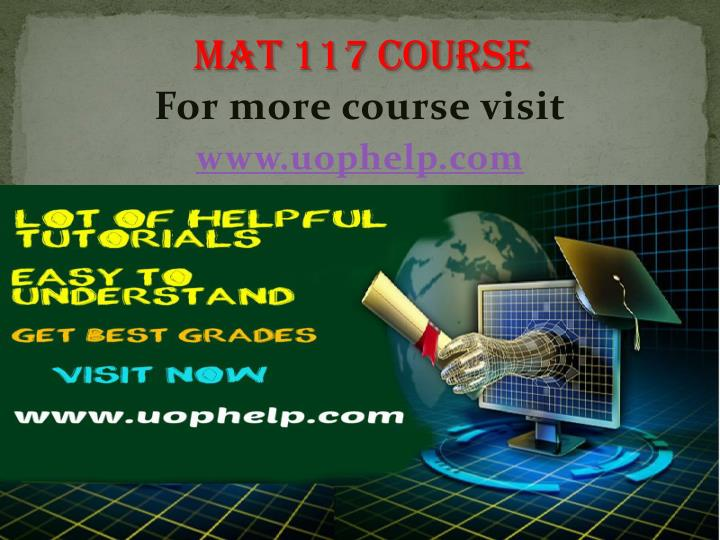 For more course visit www uophelp com