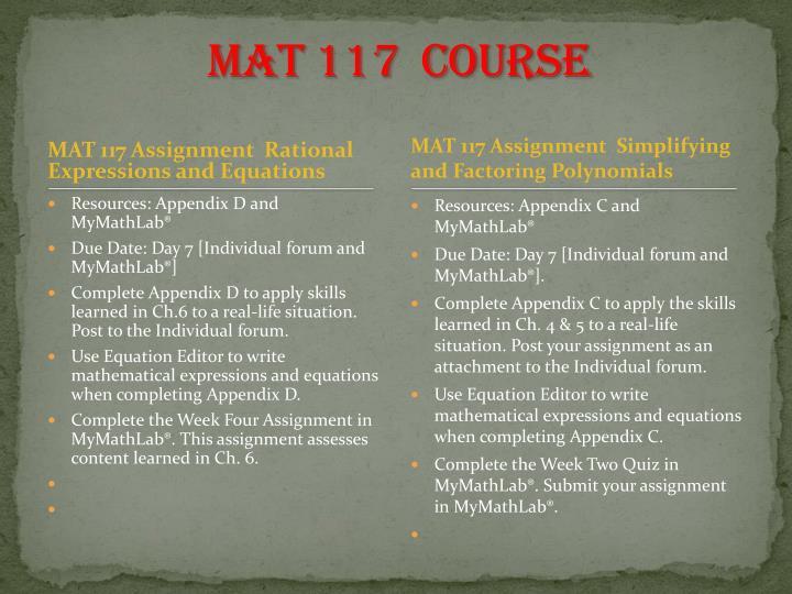 MAT 117