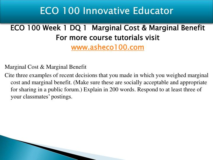 Eco 100 innovative educator1