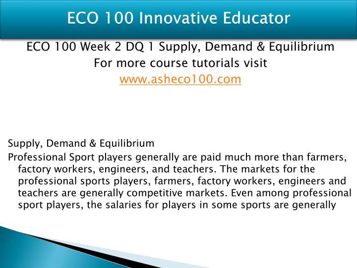 ECO 100 Innovative