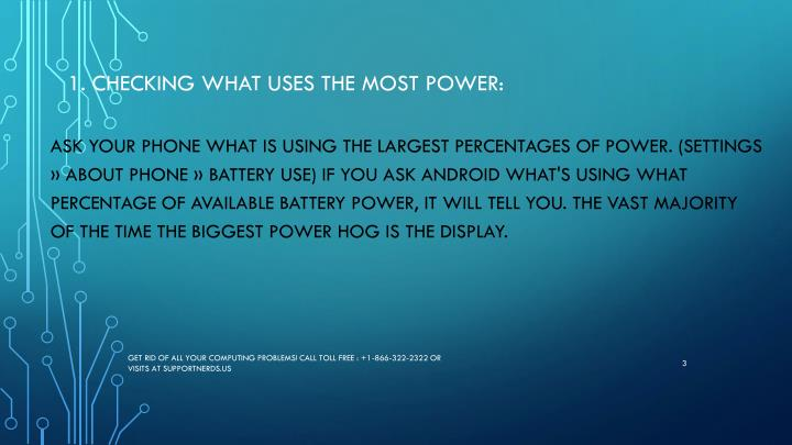1 checking what uses the most power