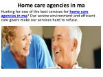 home care agencies in ma