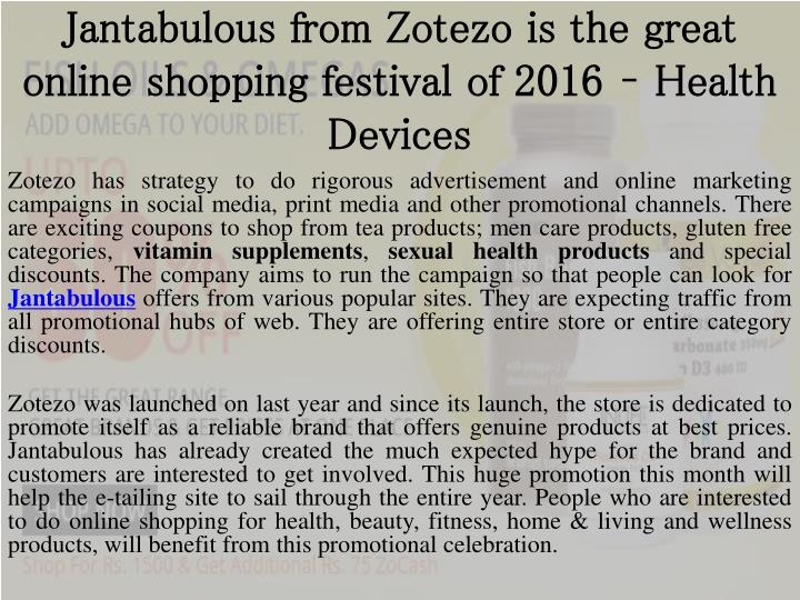 Jantabulous from zotezo is the great online shopping festival of 2016 health devices
