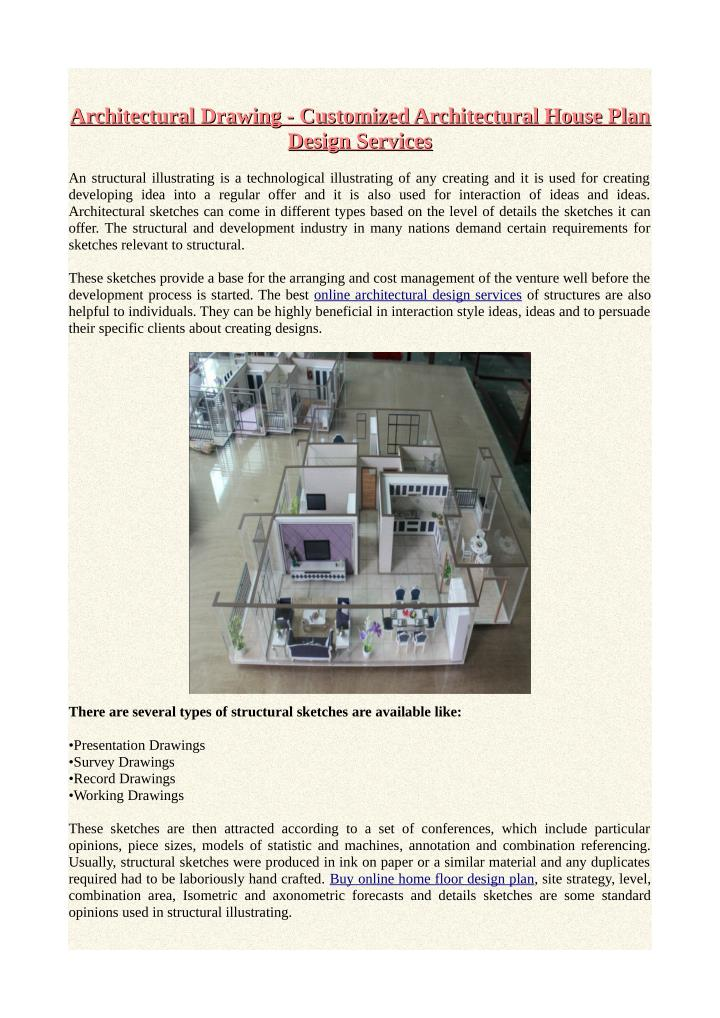 PPT - Architectural Drawing - Customized Architectural House Plan