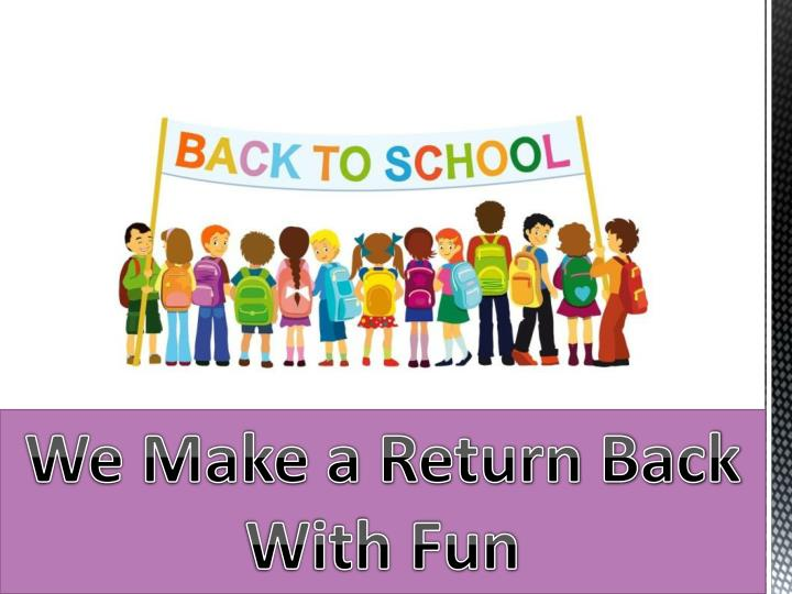 returning back to school essay The many benefits to returning to school and some of the obstacles i had and have to overcome to see my dream come alive what i want to see happen and by faith it's going to happen | we will write a custom essay sample on benefits of returning to school specifically for you for only $1390/page.