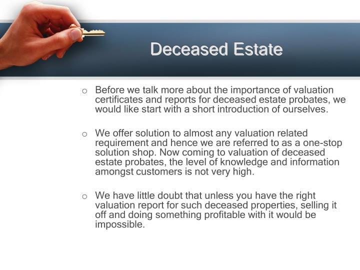 Deceased Estate