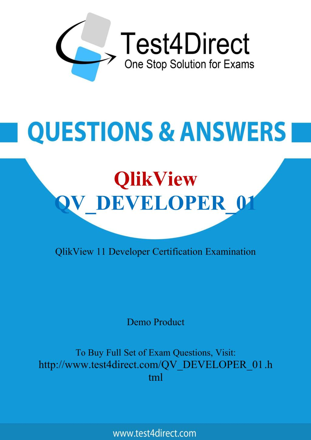 Ppt Qlikview Qvdeveloper01 Real Exam Questions Powerpoint