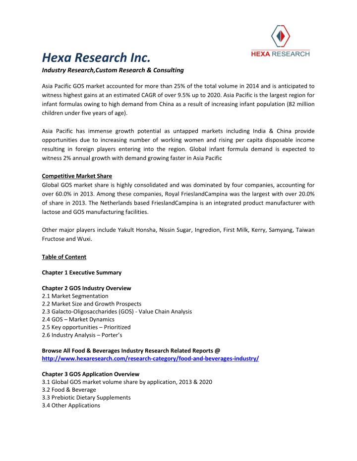 Hexa Research Inc.