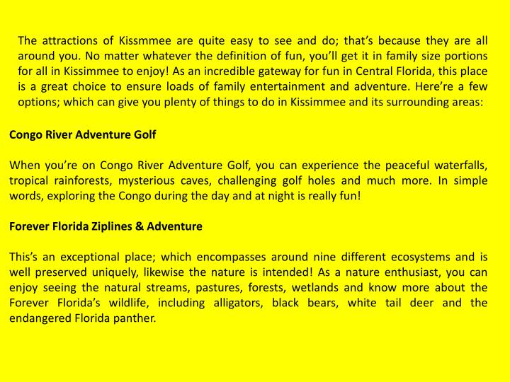The attractions of