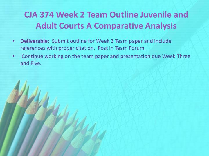 juvenile and adult courts a comparative analysis essay Juvenile court comparison the two states that i did a comparison on is texas which is where i reside and north carolina the reason i chose north carolina is because that is the state that i was born in and also where my son is going to attend college.