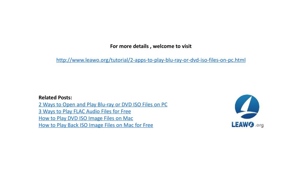 PPT - 4 ways to open and play blu-ray/dvd iso files on pc