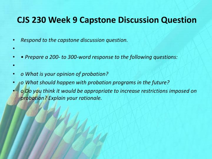 xacc 280 week 9 capstone discussion Xacc 280 week 6 assignment comprehensive problem (appendix g.