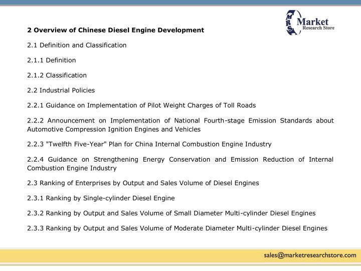 2 Overview of Chinese Diesel Engine Development