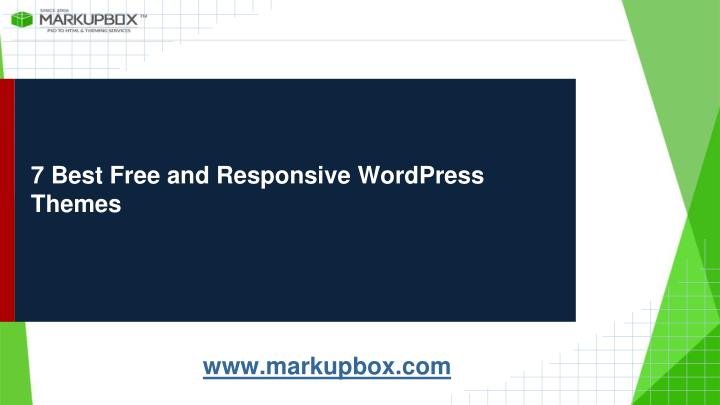 7 best free and responsive wordpress themes