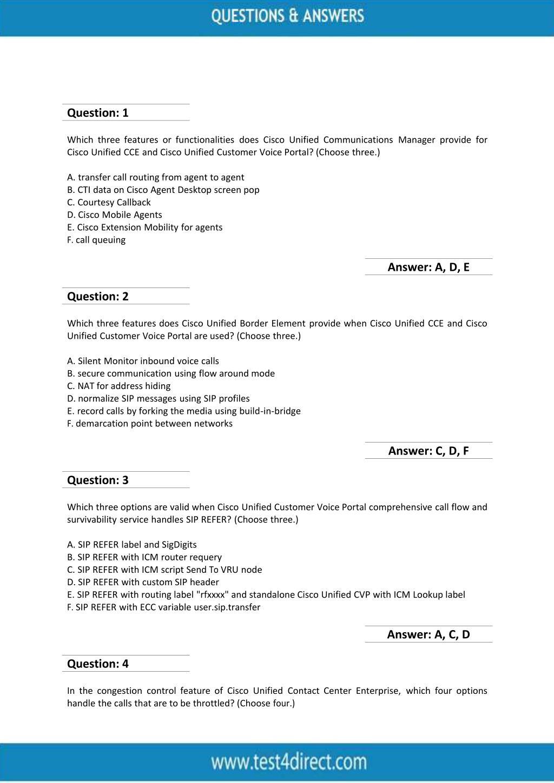 PPT - Cisco 600-455 Test - Updated Demo PowerPoint