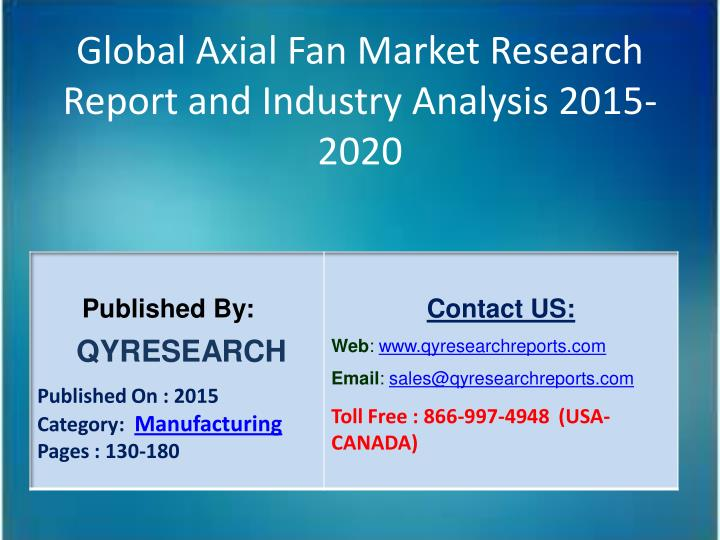 Global Axial Fan Market Research