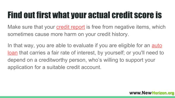 Find out first what your actual credit score is