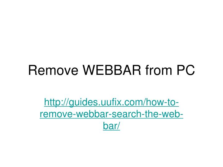 remove webbar from pc n.